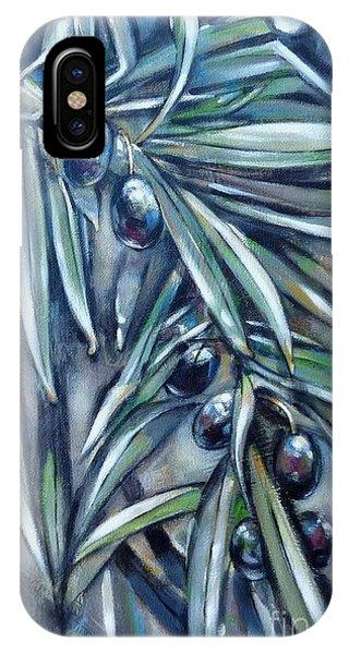 Black Olive Branch 200210 IPhone Case