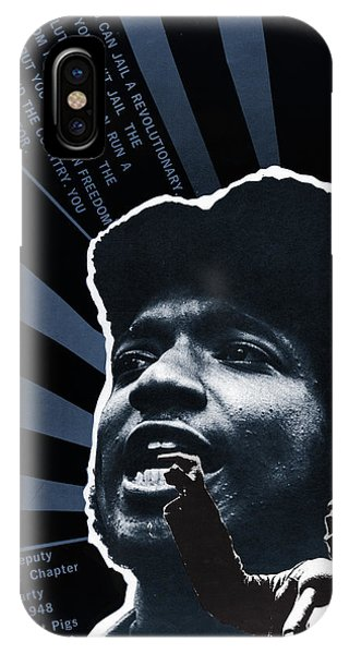 Fred Hampton iPhone X Case - Black Panther Poster, 1969 by Granger