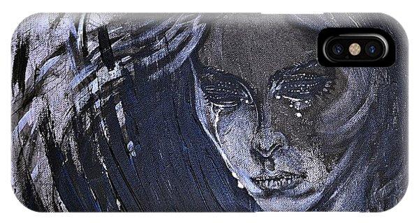 black portrait 16 Juliette IPhone Case