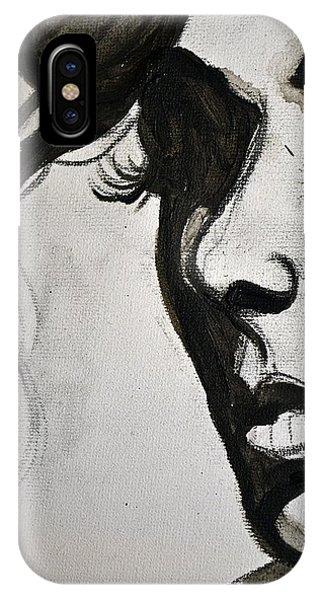 Black Portrait 16 IPhone Case