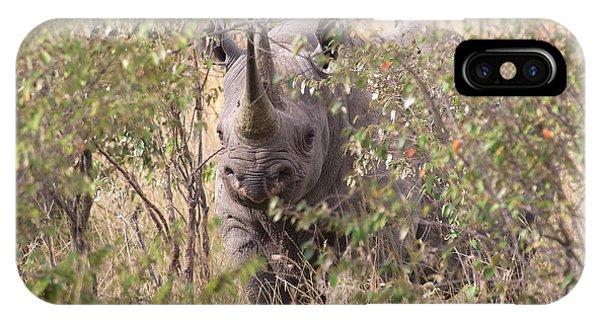 Rhinocerus iPhone Case - Black Rhino  by Chris Scroggins