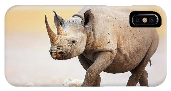 Black Rhinoceros IPhone Case