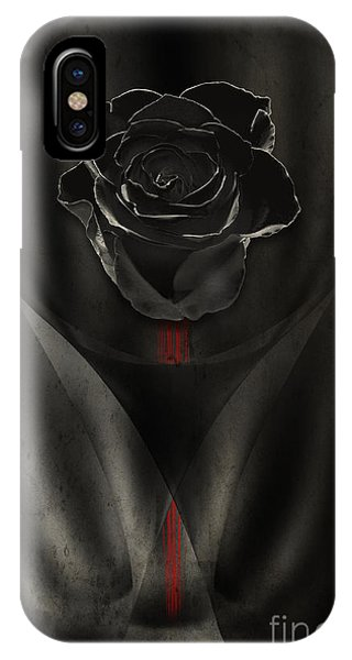 Black Rose In Dark IPhone Case