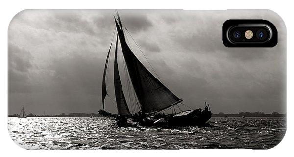 Black Sail Sunset IPhone Case