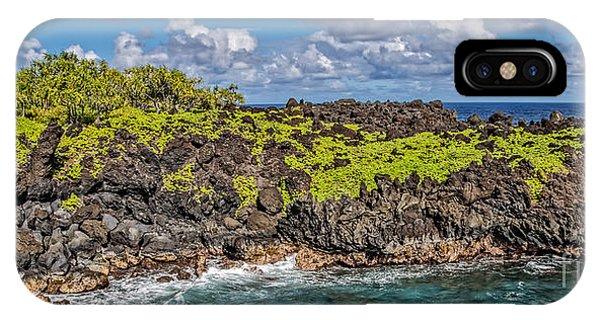 Black Sand iPhone Case - Black Sand Beach Maui Hawaii by Edward Fielding