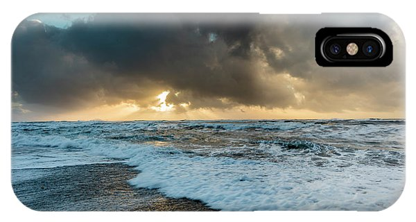 Black Sand iPhone Case - Black Sand Beach Near Vik, Iceland by Chuck Haney