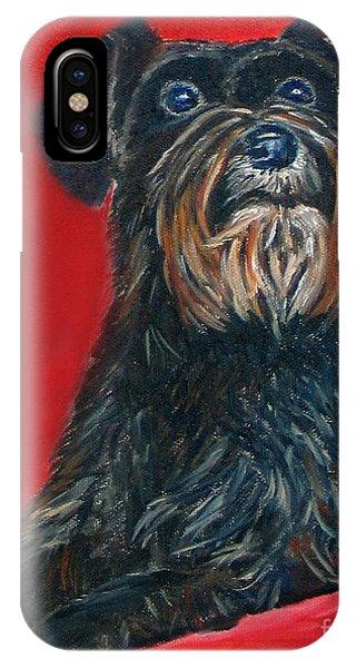 Black Schnauzer Pet Portrait Prints IPhone Case