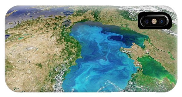 Phytoplankton iPhone Case - Black Sea Phytoplankton Bloom by Nasa/norman Kuring