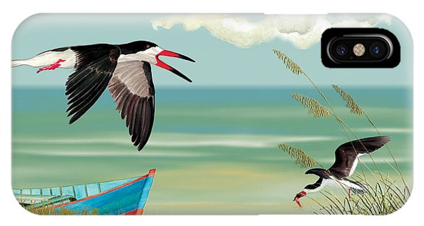Black Skimmers Fishing IPhone Case