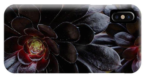 Black Succulent IPhone Case