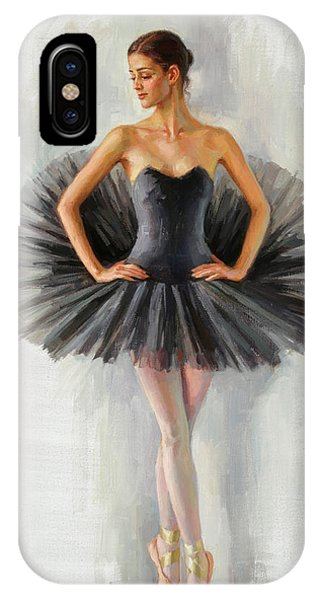 Black Swan Phone Case by Serguei Zlenko
