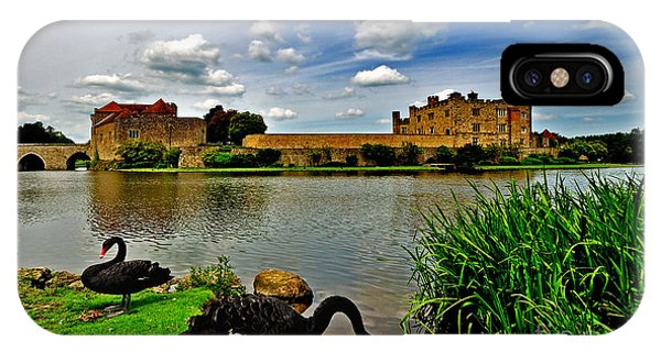 Black Swans At Leeds Castle II IPhone Case