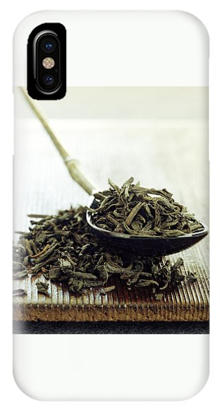 Black Tea Leaves IPhone Case