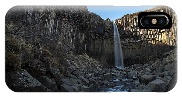 Black Waterfall IPhone Case
