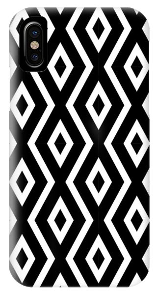 Beach iPhone X Case - Black And White Pattern by Christina Rollo