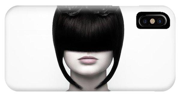 Lips iPhone Case - Black Widow by Martina Nemcekova Ep