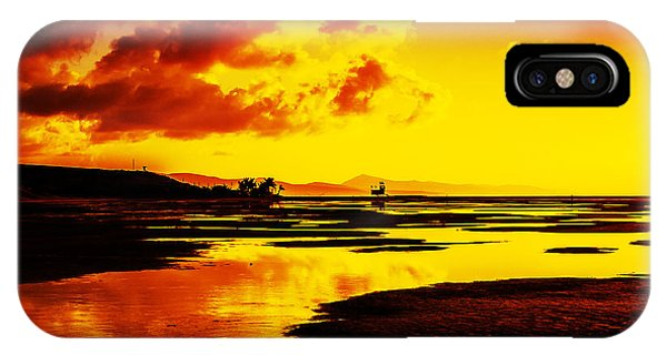 Black Yellow And Orange Sunrise Abstract IPhone Case