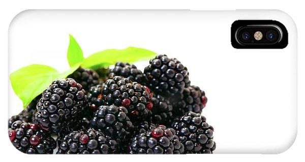 Well Being iPhone Case - Blackberries by Wladimir Bulgar