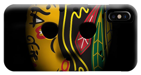 Puck iPhone Case - Blackhawks Goalie Mask by Joe Hamilton