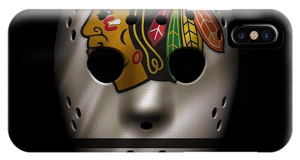 Puck iPhone Case - Blackhawks Jersey Mask by Joe Hamilton