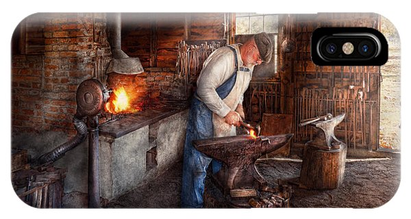 Anvil iPhone Case - Blacksmith - The Smith by Mike Savad