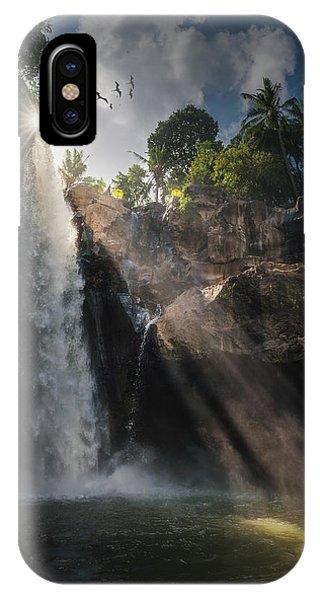 Waterfall iPhone Case - Blangsinga by Juan Pablo De