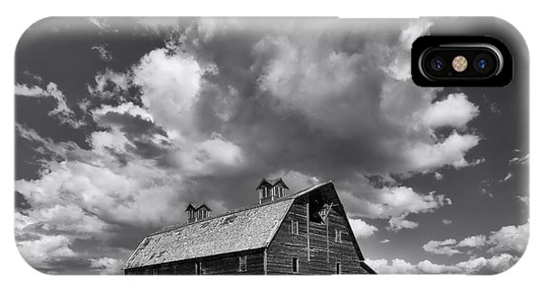 Blasdel Barn - Black And White IPhone Case
