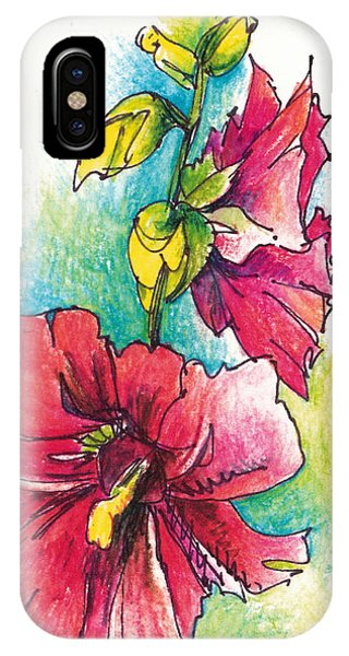 Blazing Red Phone Case by Lynda Dorris