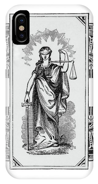 Fairness iPhone Case - Blind Justice Holding A Scale In Left by Vintage Images