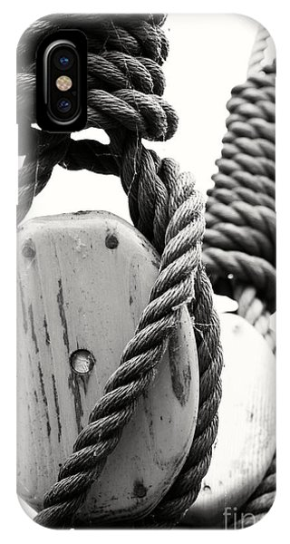 Block And Tackle Of Old Sailing Ship IPhone Case