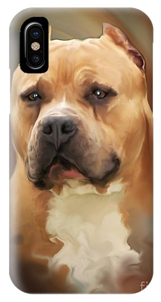 Blond Pit Bull By Spano IPhone Case