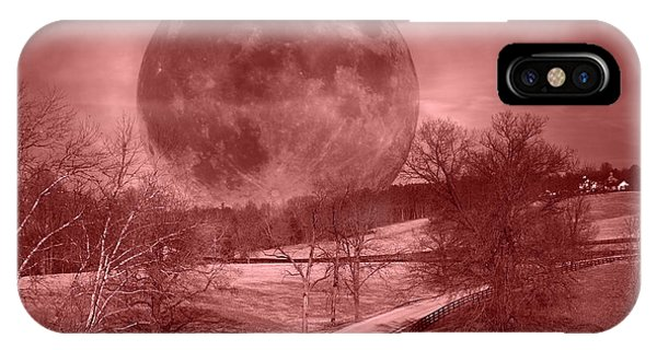 Super Moon iPhone Case - Blood Moon One Of Two by Betsy Knapp