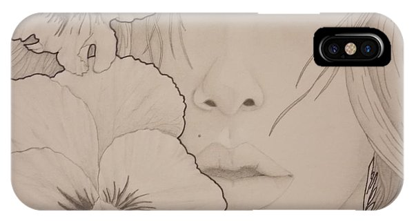 Blooming Girl Pansy Up Close IPhone Case