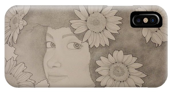 Blooming Girl Sunflower 2 IPhone Case