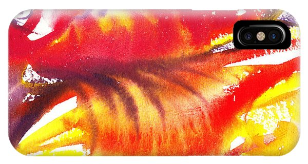 Blossoming Flames Abstract  IPhone Case