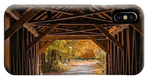 Blow-me-down Covered Bridge Cornish New Hampshire IPhone Case