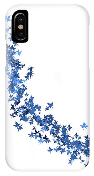 Blowing Winter Leaves IPhone Case