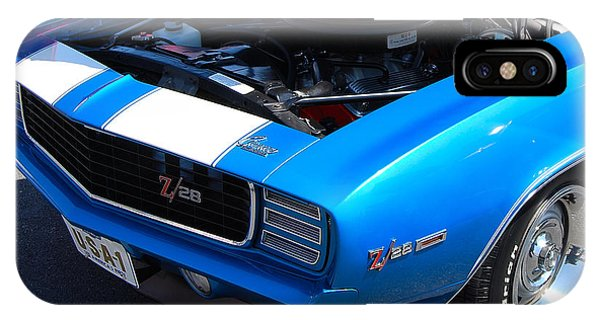 blue '69 Camaro Z28 IPhone Case