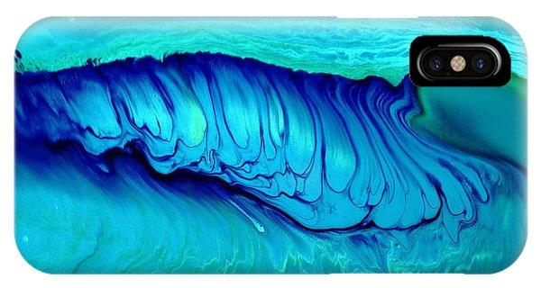 Blue Abstract Art Underwater Secrets IPhone Case