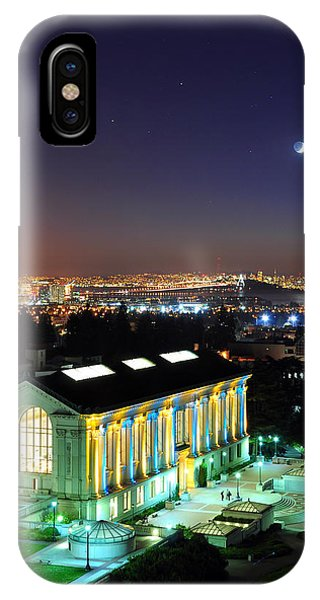 Blue And Gold Library And San Francisco IPhone Case