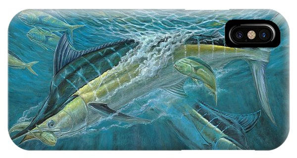 Blue And Mahi Mahi Underwater IPhone Case