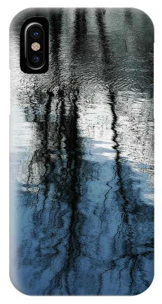 Blue And White Reflections IPhone Case