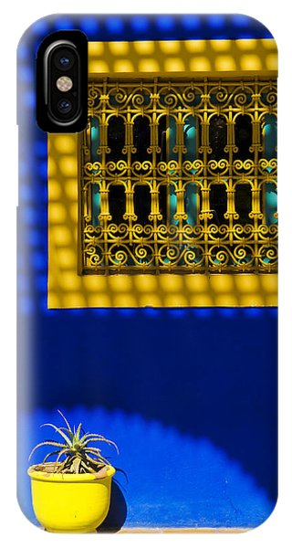 Blue And Yellow Patterns IPhone Case