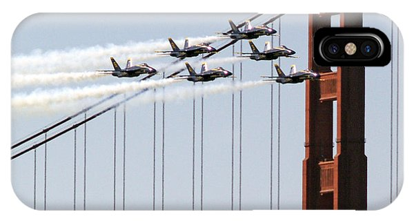 Blue Angels And The Bridge IPhone Case