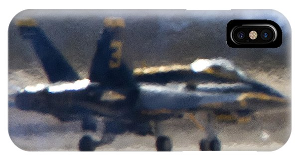 Blue Angels Number 3 On The Runway IPhone Case
