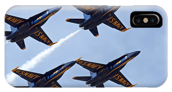 Blue Angels Over Colorado IPhone Case