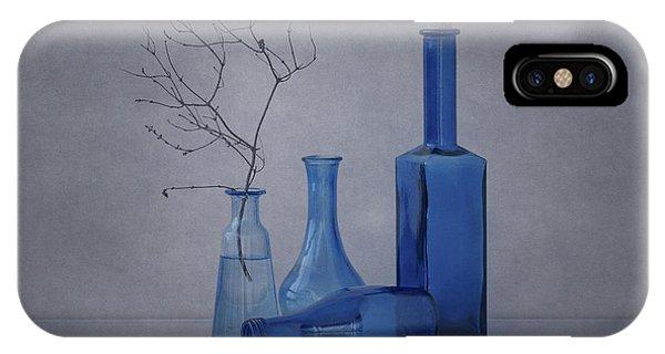 Glass iPhone Case - Blue by Anna Klinkosz