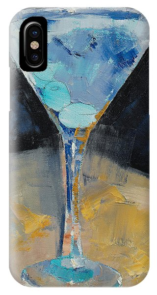 Blue Art Martini IPhone Case