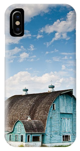 Blue Barn In The Stillaguamish Valley IPhone Case