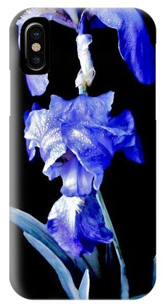Blue Bearded Rhizomatous Irises IPhone Case